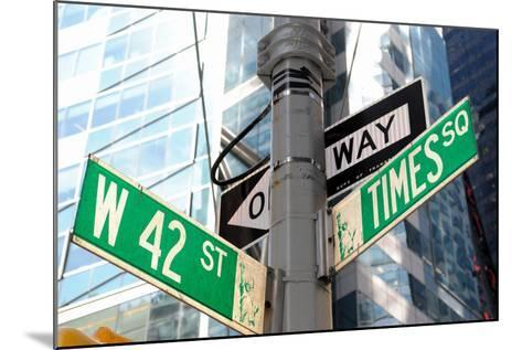 The Intersection of 42Nd Street and times Square in New York City.-SeanPavonePhoto-Mounted Photographic Print