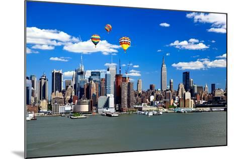 The Mid-Town Manhattan Skyline on A Sunny Day-Gary718-Mounted Photographic Print