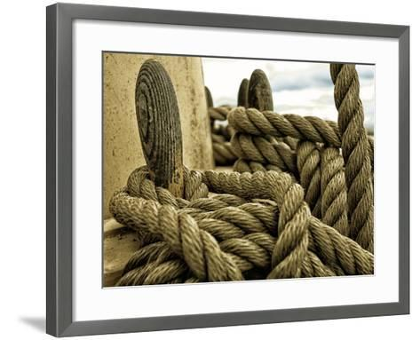 Yachting. Parts of Yacht. Nautical Ship Rope.-Voy-Framed Art Print