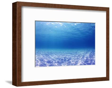Underwater Background in the Sea-Rich Carey-Framed Art Print