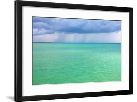 Storm Clouds over the Turquoise Sea- qiiip-Framed Art Print