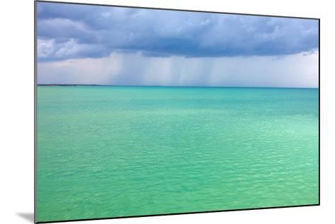 Storm Clouds over the Turquoise Sea- qiiip-Mounted Photographic Print