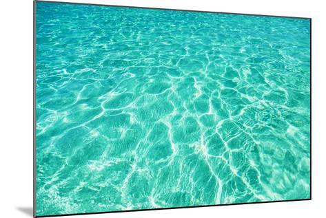 Green Water Background, Elafonisi Beach, Crete, Greece-beerkoff-Mounted Photographic Print