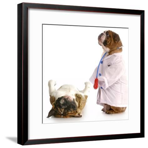 Veterinary Care-Willee Cole-Framed Art Print