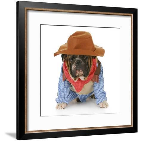 Dog Dressed Up Like a Cowboy-Willee Cole-Framed Art Print
