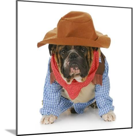 Dog Dressed Up Like a Cowboy-Willee Cole-Mounted Photographic Print
