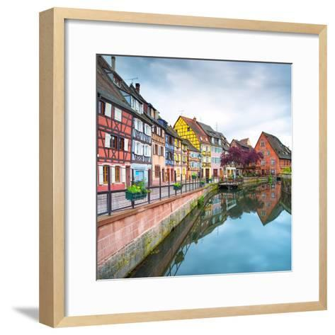 Colmar, Petit Venice, Water Canal and Traditional Houses. Alsace, France.-stevanzz-Framed Art Print