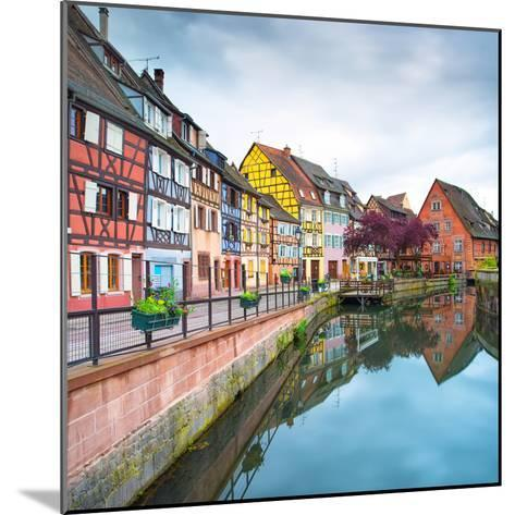 Colmar, Petit Venice, Water Canal and Traditional Houses. Alsace, France.-stevanzz-Mounted Photographic Print