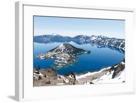 Crater Lake National Park, Oregon-demerzel21-Framed Art Print