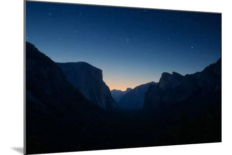 Yosemite Valley by Night under the Stars-beboy-Mounted Photographic Print