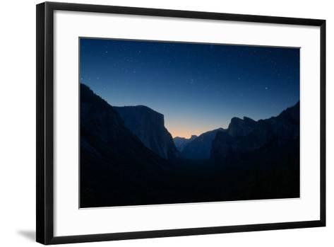 Yosemite Valley by Night under the Stars-beboy-Framed Art Print