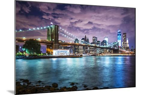 New York City with Dramatic Cloud Cover.-SeanPavonePhoto-Mounted Photographic Print