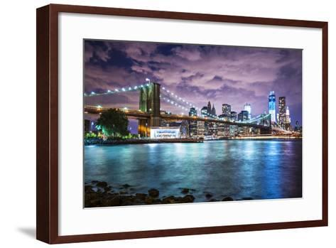 New York City with Dramatic Cloud Cover.-SeanPavonePhoto-Framed Art Print