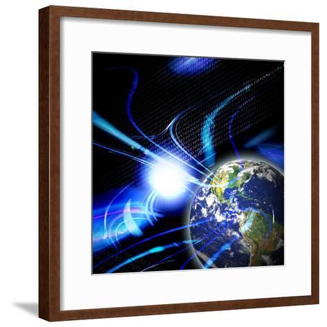 Global Communication-arenacreative-Framed Art Print