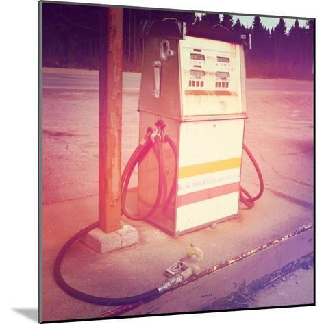 Old Gas Pump-melking-Mounted Photographic Print