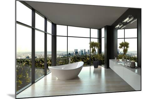 Modern White Luxury Bathroom Interior-PlusONE-Mounted Photographic Print