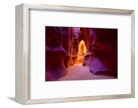 Arizona Antelope Canyon on Navajo Land Near Page USA-holbox-Framed Art Print