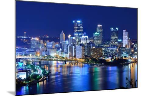 Skyscrapers in Downtown Pittsburgh, Pennsylvania, Usa.-SeanPavonePhoto-Mounted Photographic Print