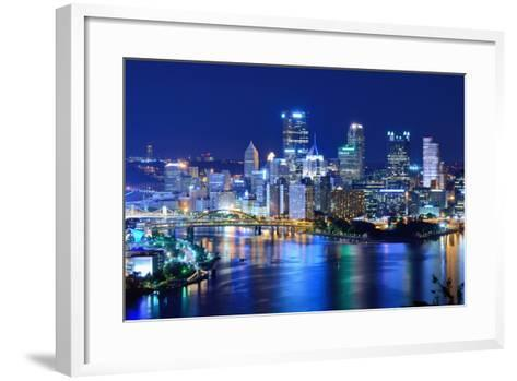 Skyscrapers in Downtown Pittsburgh, Pennsylvania, Usa.-SeanPavonePhoto-Framed Art Print