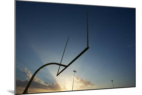 American Football Goal Posts or Uprights at Sunset-33ft-Mounted Photographic Print