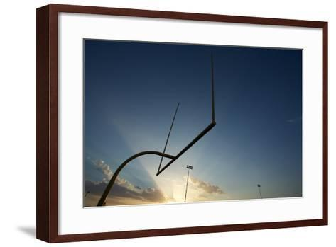 American Football Goal Posts or Uprights at Sunset-33ft-Framed Art Print