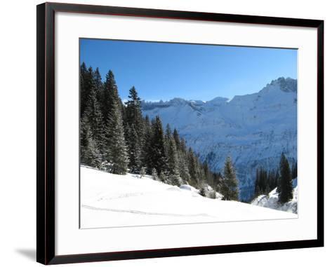 Winter Landscape (Winter in Swiss Alps)-swisshippo-Framed Art Print
