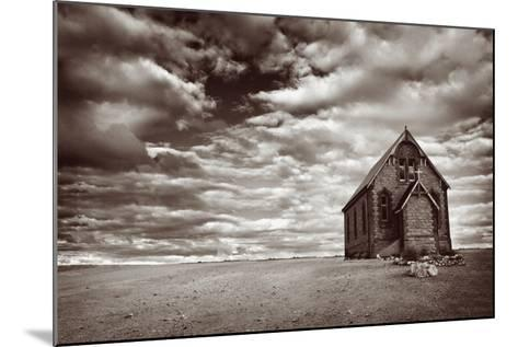 Abandoned Church in the Desert, with Stormy Skies-Robyn Mackenzie-Mounted Photographic Print