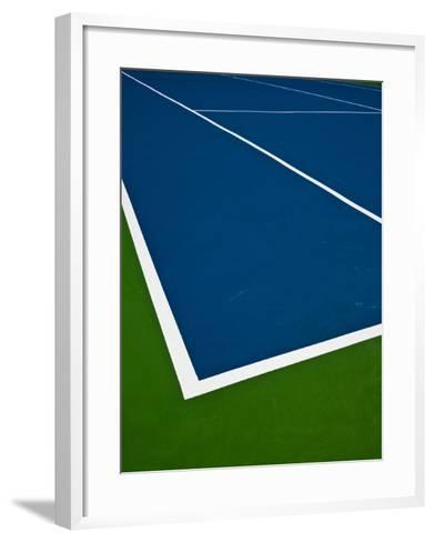 Tennis Court- photosquared-Framed Art Print