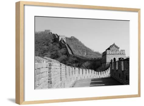 Great Wall in Black and White in Beijing, China-Songquan Deng-Framed Art Print