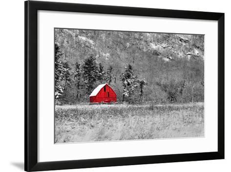 Red Barn-dbriyul-Framed Art Print