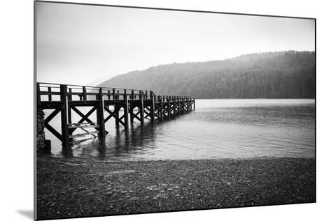 Pier in A Foggy Lake-paiphoto-Mounted Photographic Print