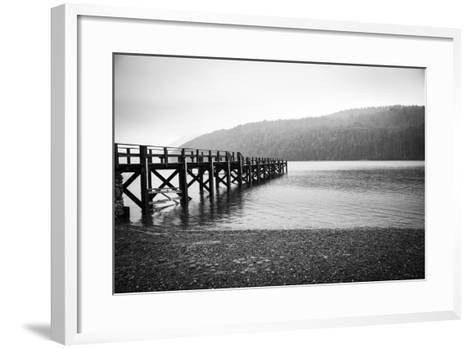 Pier in A Foggy Lake-paiphoto-Framed Art Print