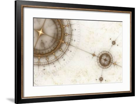 Ancient Nautical Chart, Grunge-Artida-Framed Art Print