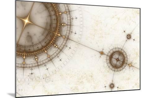 Ancient Nautical Chart, Grunge-Artida-Mounted Photographic Print