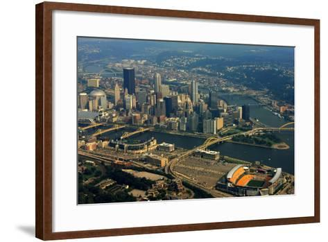Pittsburgh Pennsylvania Aerial View-shutterrudder-Framed Art Print