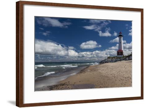 Crisp Point Lighthouse-johnsroad7-Framed Art Print