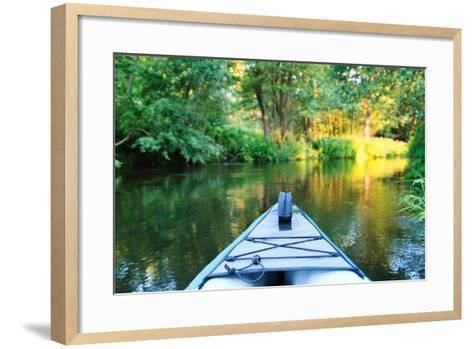 Kayak on a Small River-maksheb-Framed Art Print