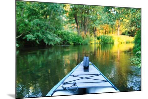 Kayak on a Small River-maksheb-Mounted Photographic Print