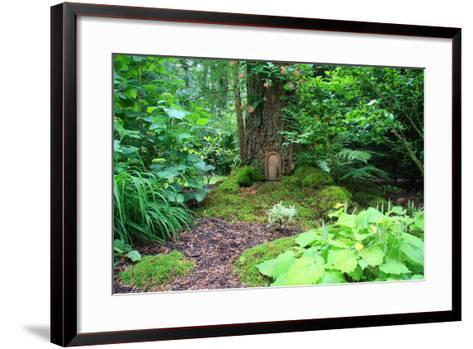 Little Fairy Tale Door in a Tree Trunk.-Hannamariah-Framed Art Print