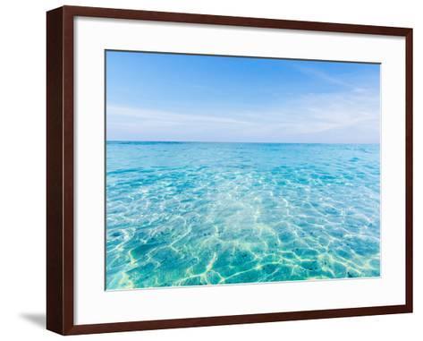 Crystal Clear Sea of Tropical Island-aiaikawa-Framed Art Print