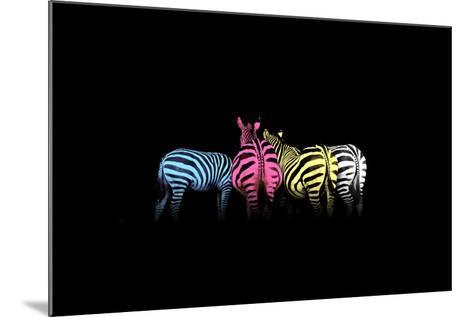 Cmyk Colored Zebras-Jakub Jirsak-Mounted Photographic Print