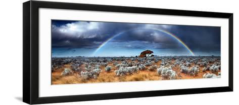 Rainbow in the Australian Desert-kwest19-Framed Art Print