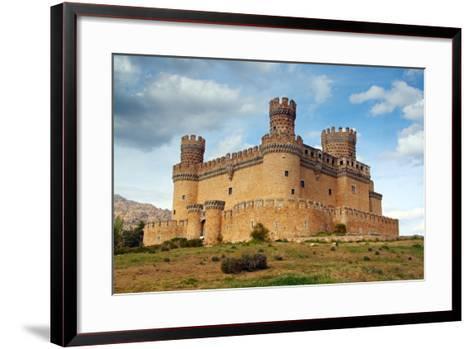 Madrid,  SPAIN - 20 Juny, 2009, Manzanares El Real Castle (Spain) Build in the 15Th. Century-TTstudio-Framed Art Print
