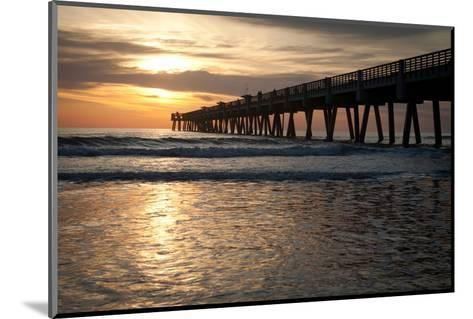 Jacksonville Beach, Florida Fishing Pier in Early Morning.-RobWilson-Mounted Photographic Print