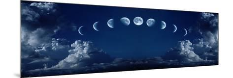 Nine Phases of the Full Growth Cycle of the Moon-korionov-Mounted Photographic Print