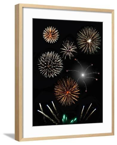 Fireworks-Pixelbliss-Framed Art Print