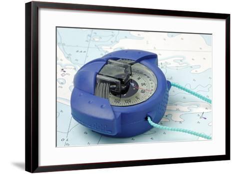 Hand Bearing Compass-roger ashford-Framed Art Print