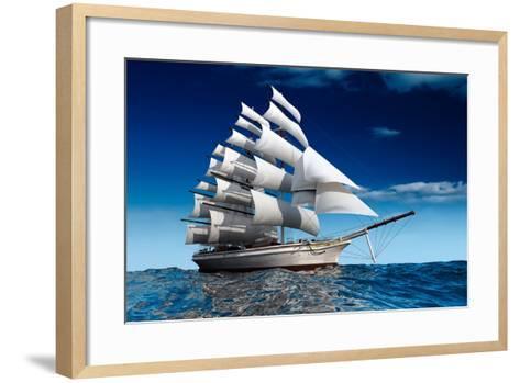 Sailing Ship-Antartis-Framed Art Print