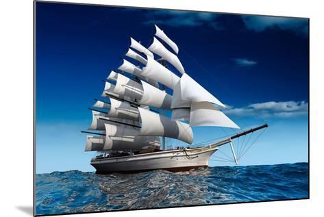 Sailing Ship-Antartis-Mounted Photographic Print