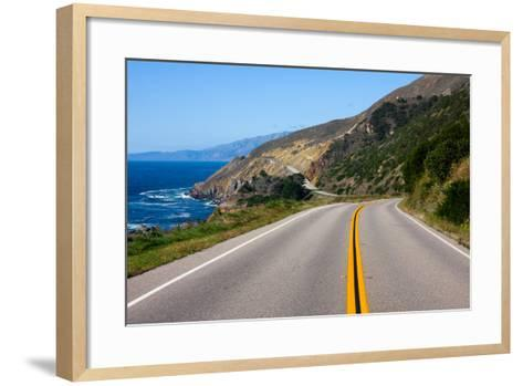 Highway through California Coast-Andy777-Framed Art Print